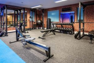 Photo of inside Elysium Tarporley Gym showing equipment