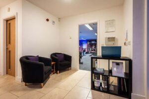 Photo of the reception area inside Elysium Tarporley Gym